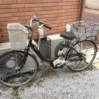 ナショナル電動自転車カゴ付きの画像