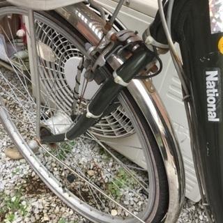 ナショナル電動自転車カゴ付き - 大田区