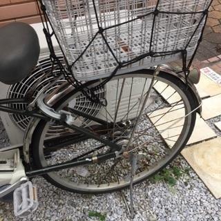 ナショナル電動自転車カゴ付き - 自転車