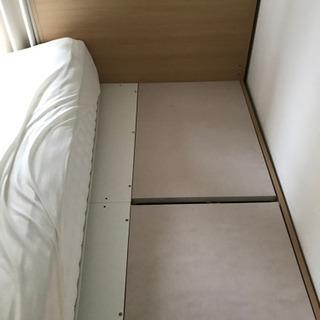 【募集終了】ニトリ ベッドフレーム マットレス どちらかでも可 - 家具