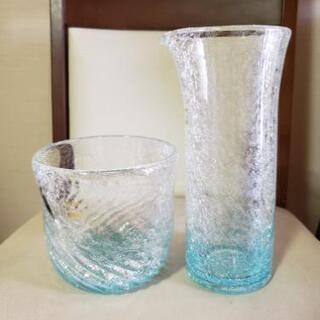 琉球ガラス、アイスペール&ウォーターポット