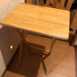 折り畳みテーブル 木製 ナチュラル