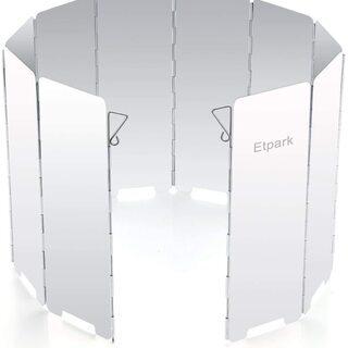 【新品】キャンプ アウトドア 風除板 ウインドスクリーン 折り畳...