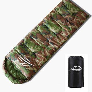 【新品】寝袋 封筒型 軽量 保温 210T防水シュラフ コンパク...