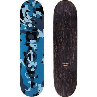 Camo Logo Skateboard Blue Camo
