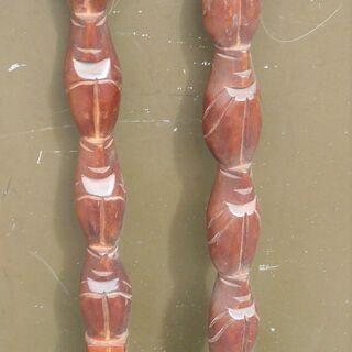 ☆木彫りのスプーン&フォーク インテリアに最高!◆ユニーク…