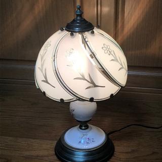 antique ガラス製電気スタンド アンティーク
