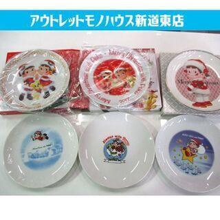 ◇ペコちゃん 皿 6枚セット 不二家 クリスマスプレート FUJ...