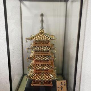 ◆瓦が5円玉で創られた五重塔◆