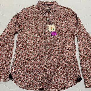 お得!レナウン「アーノルドパーマー」長袖、花柄の綿シャツ、未使用です。