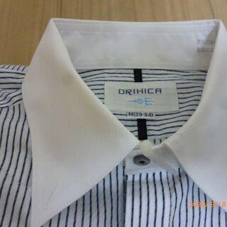 ORIHIKA クレリック ストライプ 長袖Yシャツ M