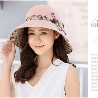 レディース 帽子 ハット コンパクト UVカット専用 小顔効果 お出かけ 折りたためる 日常生活 56 - 服/ファッション