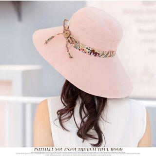 レディース 帽子 ハット コンパクト UVカット専用 小顔効果 お出かけ 折りたためる 日常生活 56 − 千葉県