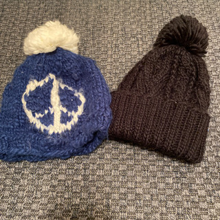 ニット帽 2つ