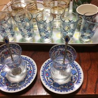 トルコ製 チャイグラスなど。バラ売り・値段交渉可能