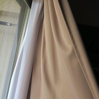 1級遮光カーテン2枚組 遮熱 断熱 ココア 100x125 cm...