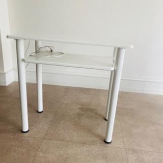 【ネット決済】エトゥベラ ネイルテーブル ホワイト高機能コンパク...