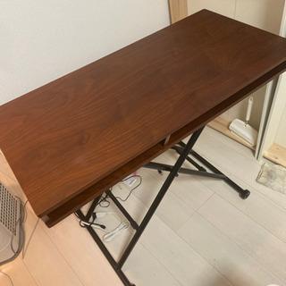 在宅ワーク・テレワークに高さ無段階調節可能なテーブル・デスク