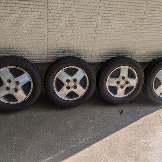 スタッドレスタイヤ155/65R13+アルミホイール 4本セット