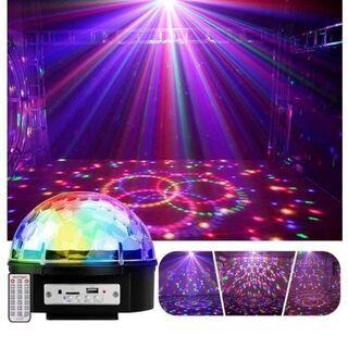 ステージライト・LED 9色変化 音楽再生 ディスコボール