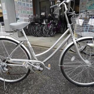 中古自転車1147 前後タイヤ新品! 27インチ 6段ギヤ オー...