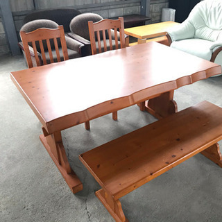 木製 ダイニングテーブル イス ベンチ