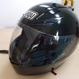 バイク用ヘルメット(AGV、ブラック)