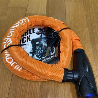 【新品未使用】バイクロック(オレンジ)