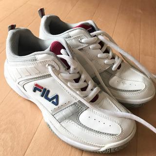 FILAテニスシューズ ホワイト×シルバー/7TJXT3008-...