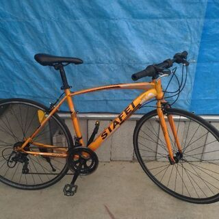 SIAFEI クロスバイク オレンジ 700C 480mm 14速ギア