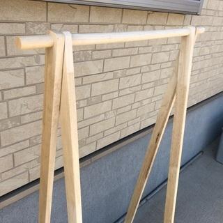 木製ハンガーラック×2コ - 家具