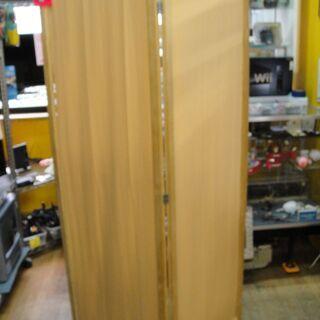 布製2連スクリーン 木製フレーム パーテーション 衝立 間仕切り