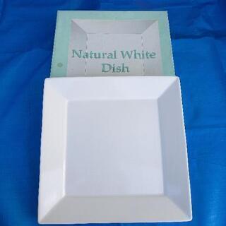 ナチュラルホワイトディッシュ 角大皿 未使用