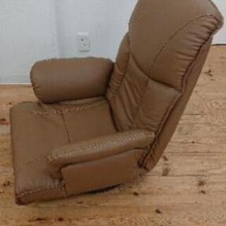 リクライニングチェア 1人用 薄めブラウン ソファー 座椅子