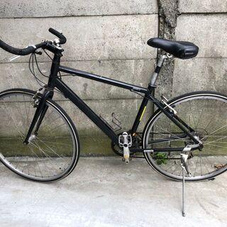 クロスバイク 8速 27インチ 黒