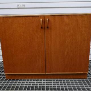 木製 扉付き棚 収納棚 テレビ台 シューズボックス 食器収納などに