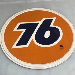 76で有名なセブンティシックスのブリキ看板です