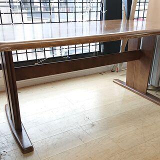 ★ ダイニングテーブル 木製 ライトブラウン☆150×90×70...