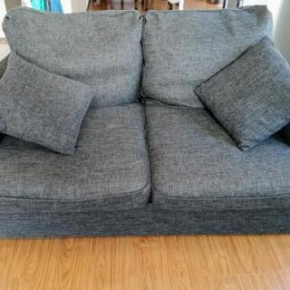 【決まりました】布製2人掛けソファー中古の画像