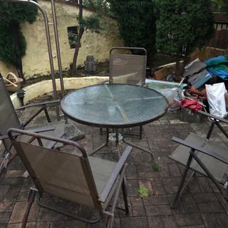 【お取引中】お庭用 テーブルと椅子