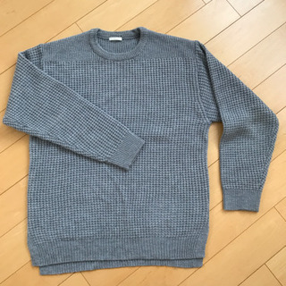 GU セーター(メンズ グレー)