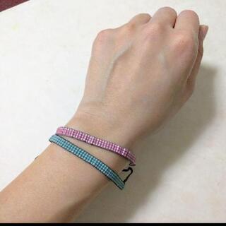 ブレスレット2本セット★ピンク、ブルー