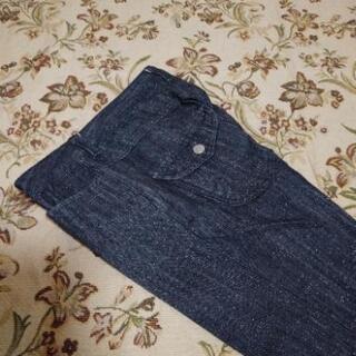 ラメ入りジーンズ(ブーツ用裾幅)