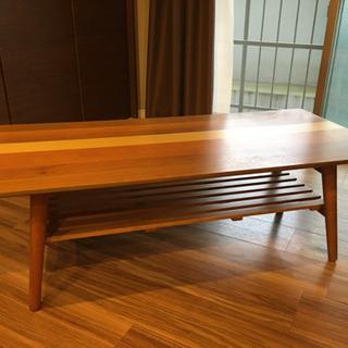 【10/4まで】折り畳みローテーブル(棚板あり)