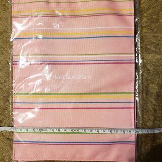 三越トートバッグ ピンク 弁当入れサイズ
