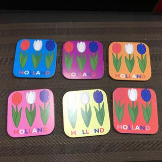 オランダ  チューリップ コースター6枚組 正方形
