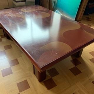 古い座卓です。取りに来ていただけたら差し上げます。