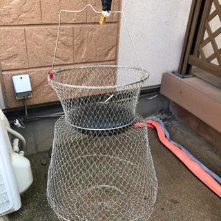 【お取引中】釣具 カゴ 籠 ロープ付き