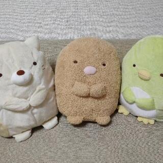 すみっコぐらし大型ぬいぐるみ(とんかつ・ねこ・ぺんぎん?)