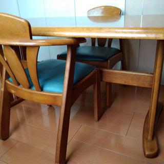 【引渡し完了】ダイニングテーブル&椅子2脚 1000円